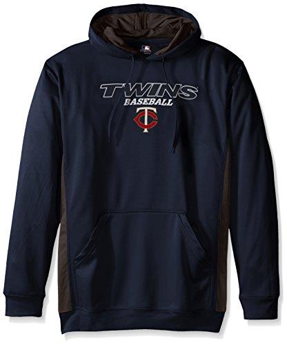 MLB Minnesota Twins Men's Fleece Hood, 3X Tall, Navy / StormGrey – Sports Center Store