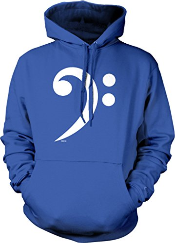 Bass Clef, F-Clef, F3 Hooded Sweatshirt, NOFO Clothing Co. XL Royal