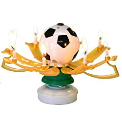 The Amazing Singing Birthday Candle, Soccer Themed