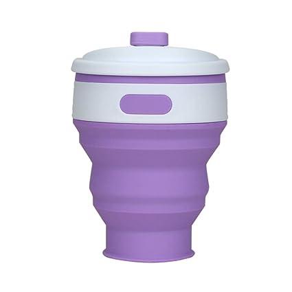 wo nice Botella de Agua Plegable, 300 ML exprimidor de Botellas de Silicona para Deportes