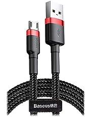 Baseus Cafule Micro 2.4A 1m. Kablo, Kırmızı, Siyah