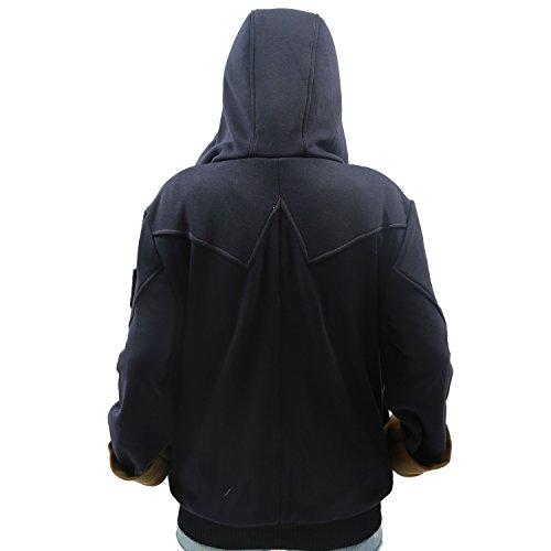 XCOSER Men's Fashion Zip Up Hoodie Jacket Sweatshirt with Beak Black M