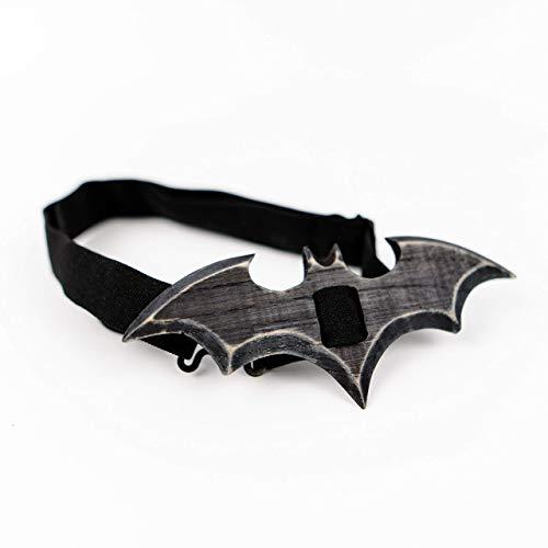 Batman Gotham Knight Wooden Bow Tie For Men Handmade Wood Bowtie Wedding Accessory