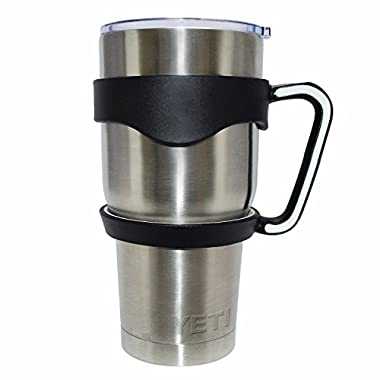 Handle for YETI Rambler Tumbler, Ozark Trail, RTIC and Many More - Available in 30oz and 20oz - (30oz, Black) - The Buddy Handle