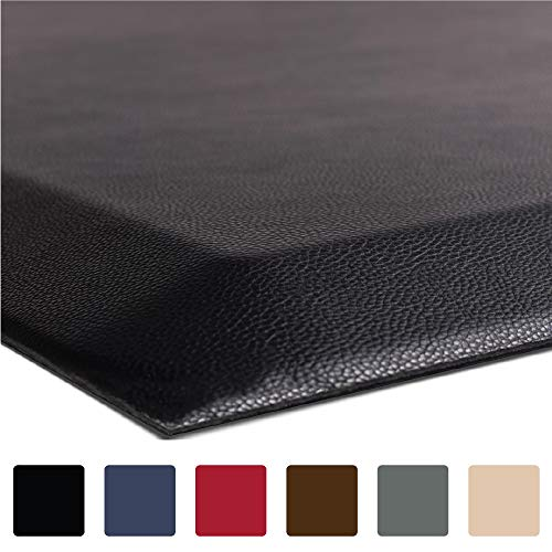 "Hills Point Industries, LLC GORILLA GRIP Original 3/4"" Premium Anti-Fatigue Comfort Mat (70 x 24), Phthalate Free, Ergonomically Engineered, Extra Support and Thick, Kitchen, Laundry, and Office Standing Desk (Black) price tips cheap"
