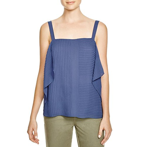 Tory Burch Womens Silk Pintuck Casual Top Blue 12 by Tory Burch