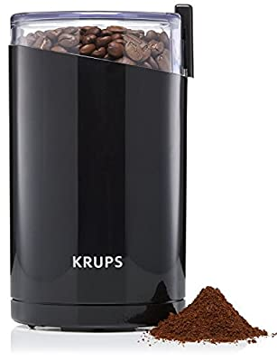 KRUPS F203 Electric Spice and Coffee Grinder with Stainless Steel Blades, 3-Ounce, Black