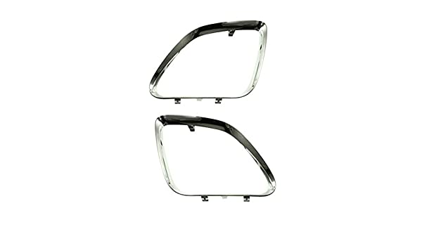 DAT AUTO PARTS Mesh Grille Insert Set Replacement for 2005-2009 Pontiac G6 Upper Inner Black Steel Set of Two Left Driver Right Passenger Side Pair GM1200539 GM1200540