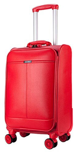 Amlenker PU Leather Spinner Wedding Red Suitcase - 24 Inch Red by Amlenker