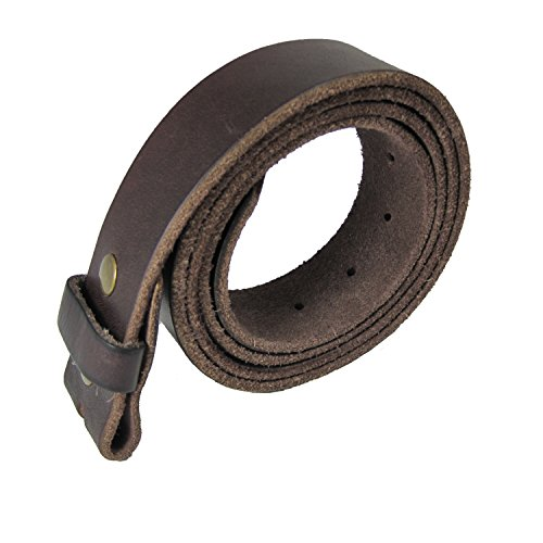 Genuine Leather Belt Strap without Belt Buckle - Brn Buckle