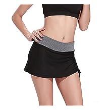 Women's High Waist Mini Tennis Skirt Running Skort with Built-In Shorts