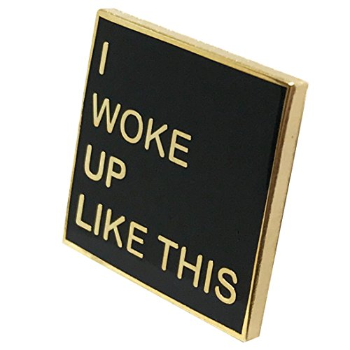 (I Woke Up Like This Lapel Pin - Cool Selfie Trend for Shirt Hat Jacket Hooddie)