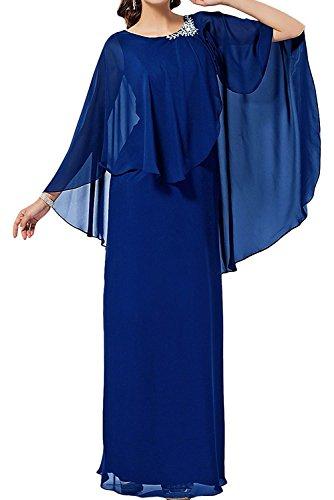 Chiffon Festlichkleider Partykleider Braut Lang La Royal Blau Marie Abendkleider Damen Brautmutterkleider Schwarz 0xn7xI8Fqf