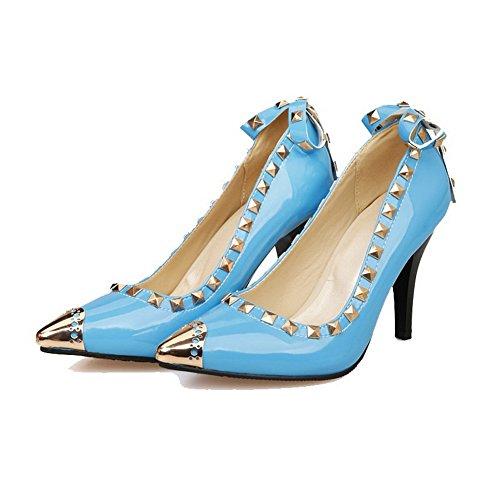 Pekte Pigger Voguezone009 Solide Kvinners Tå Pumper sko Blå on stilettos Pull Lukkede qAwYZWf6wx