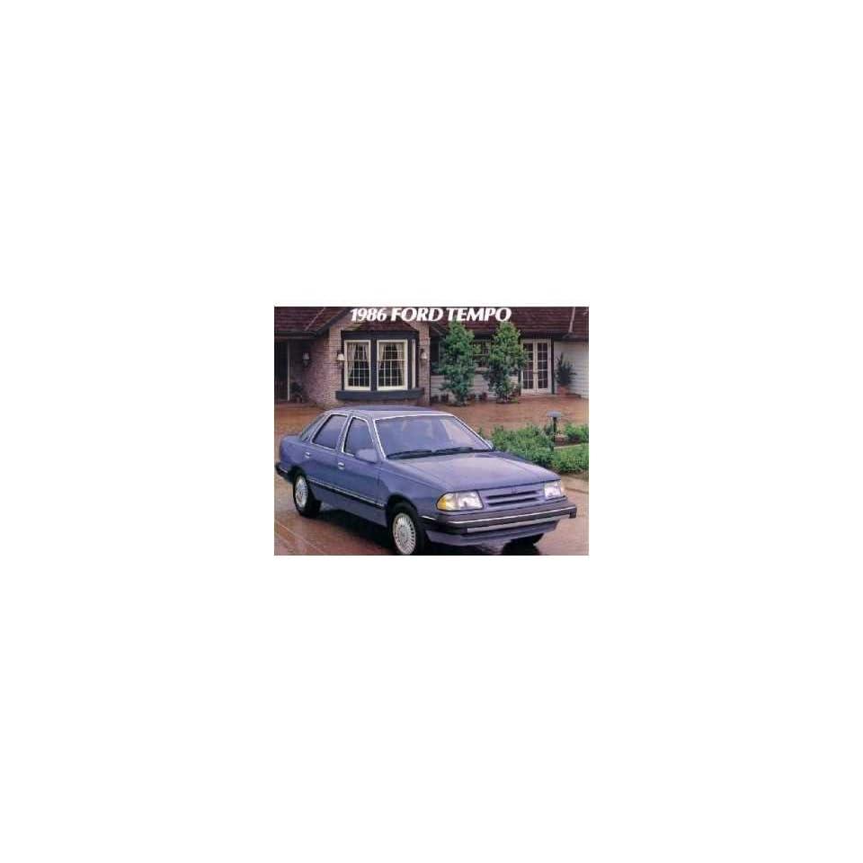1986 Ford Tempo Sales Brochure Literature Book Piece Dealer Advertisement