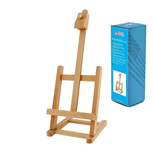 US Art Supply 16 inch High Mini Wood Studio Adjustable Artist Easel