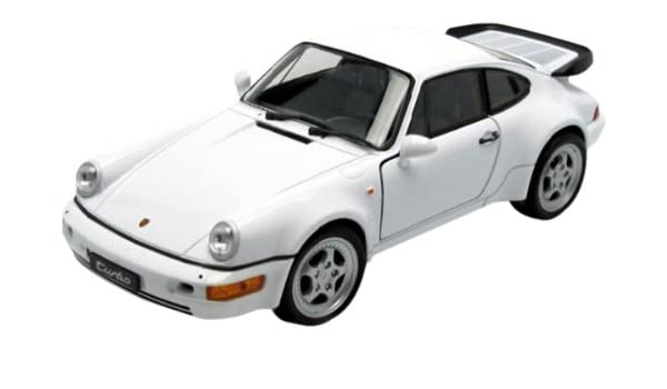Amazon.com: Porsche 911 (964) Turbo, white, Model Car, Ready-made, Welly 1:24: Welly: Automotive