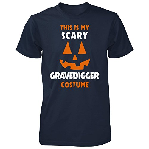 This Is My Scary Gravedigger Costume Halloween Gift - Unisex Tshirt Navy (Grave Digger Halloween Costume)