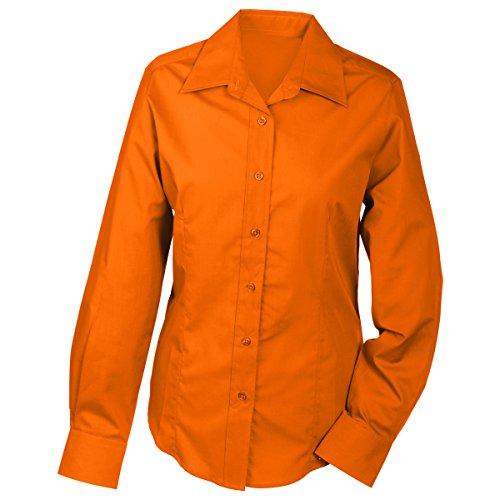 JAMES & NICHOLSON - Camisas - Básico - Manga Larga - para mujer naranja