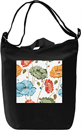 Summer Flowers Pattern Borsa Giornaliera Canvas Canvas Day Bag| 100% Premium Cotton Canvas| DTG Printing|