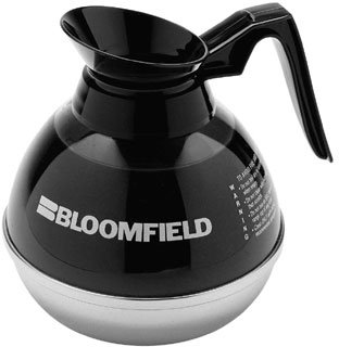 Bloomfield REG10114BLI Unbreakable Decanter, Plastic with Stainless Steel Bottom, Black Handle (Unbreakable Carafe)
