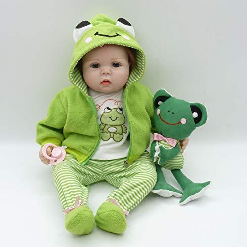 55cm Lifelike Toddler Newborn Baby Doll Toys Full Body Soft Vinyl Baby Doll Non-toxic Safe Toys Handmade Baby Doll