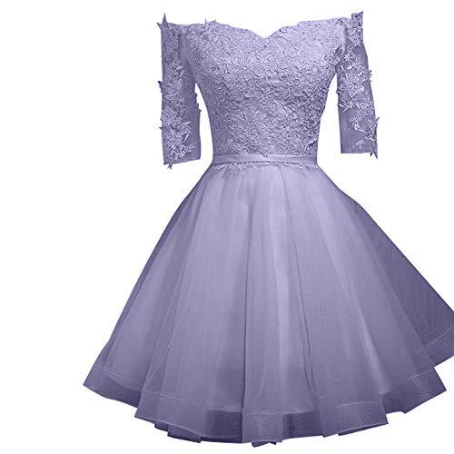 La Mini Rosa Rock Braut Cocktailkleider Suessig Marie Lawender Spitze Abendkleider Brautjungfernkleider Wqwx8tqr4p