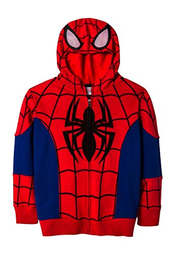 Boys Spiderman Zip-Up Costume Hoodie (Medium)