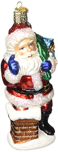Old World Christmas Ornaments: Better Be Nice Santa Glass Blown Ornaments for Christmas Tree ()