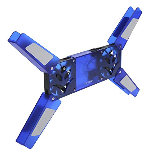Cooling Stand, Computer Supplies DR‑2008F Laptop Cooling Pad Dual Fan for Notebook for Gaming Laptop(Blue)