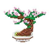 PP-NEST 329 Pieces Mini Building Blocks Puzzle Building Toy Bricks KLJM-02 (Cherry)