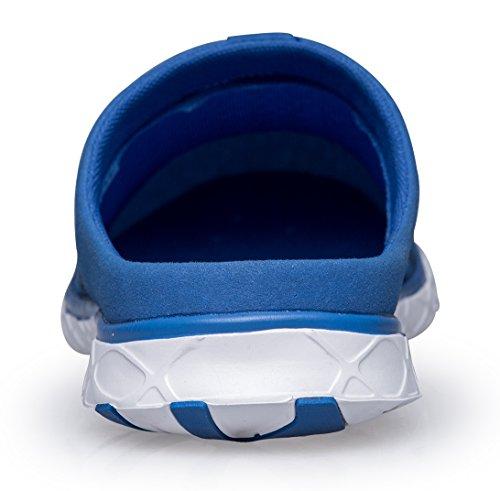 Pooluly Femmes Pantoufles Deau Respirant En Plein Air Chaussures Deau Athlétiques Légers Bleu