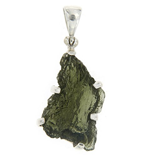 Starborn Sterling Silver Natural Moldavite Pendant