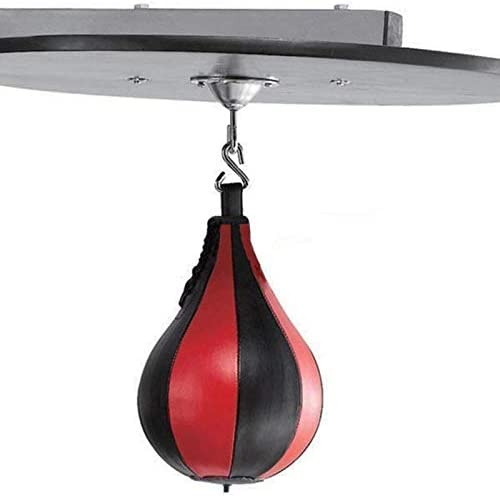 Luntus Boxing Pear Shape PU Speed Ball Swivel Punch Bag Punching Exercise Speedball Speed Bag Punch Fitness Training Ball