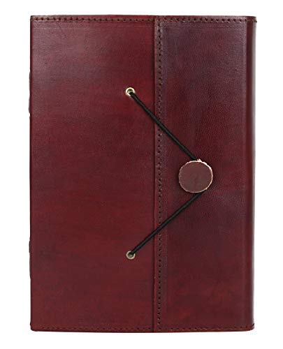 24aff1c68538 Handmade Leather Journal Writing Notebook Bound Daily Notepad For Men    Women Unlined Paper