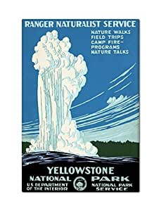 Yellowstone National Park Vintage Advertising Poster Fridge Magnet
