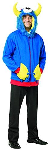 Rasta Imposta Men's Monster Hoodie, Blue, Medium (Mens Monster Costume)