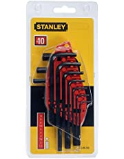 STANLEY 0-69-253 Set 10 chiavi esagonali maschio (brugola)