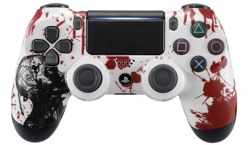Zombie PS4 PRO Rapid Fire Custom Modded Controller 40 Mods for All Shooter Games, Auto Aim, Quick Scope Sniper Breath (CUH-ZCT2U) (The Best Modded Controllers)