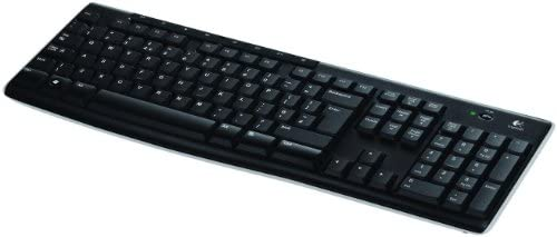 Logitech K270 Teclado Inalámbrico para Windows, Disposición QWERTY Inglés Reino Unido, Negro