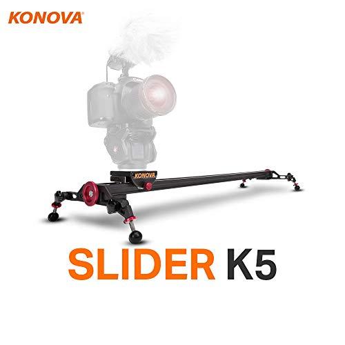 Konova Slider K5 120 (47.2 inch) Track Aluminum solid rail roller bearing for smooth slide for Camera, Gopro, Mobile Phone, DSLR, Payloads up to 55bs (25kg) with Bag
