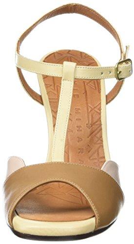 Chie Mihara Agadir - Sandalias de tobillo Mujer Multicolore (Tailu Tan Tailu Nude)