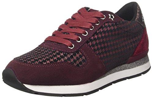 Trussardi Jeans 79a00023-9y099999, Zapatillas de Gimnasia Para Mujer Negro (Black/bordeaux)