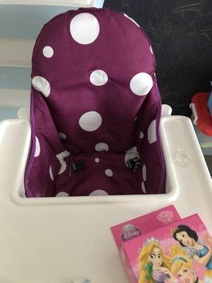 Rosa ZARPMA Cuscino Seggiolone coprisedili per Ikea Antilop,Lavabile per Bambini Pieghevole Ikea Childs Sedia coprisedili Ricoperto-Non Include Di Seggiolone E Cintura Di Sicurezza