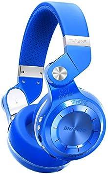 Desconocido Bluedio T2+ - Auriculares inalámbricos Bluetooth 5.0 estéreo, Tarjeta SD y Radio FM con micrófono y Sonidos Graves