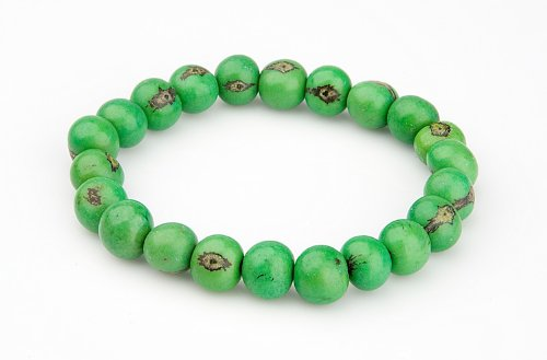 Zorbitz Giving Tree Acai Seed Save The Earth Bracelet, Green