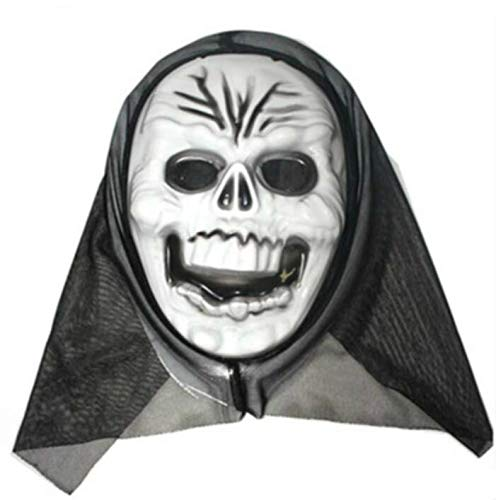 Creative Home Supplies Halloween Horror Mask Masquerade Grimace Scream Skull Ghost Mask Party Novelty Prop Halloween Gift Deserve to Buy (Color : D Style) ()