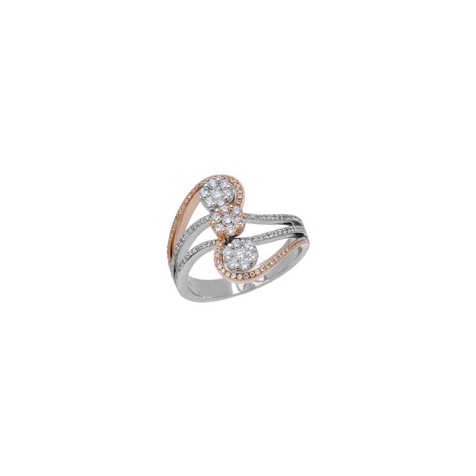 0.67 Carat 18kt Two Tone Gold Diamond Ring