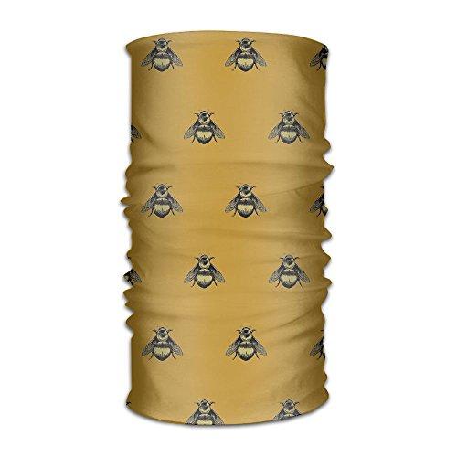 (Magic Headwear Bumblebee Pattern Unisex Variety Scarf Headbands Bandana Mask Neck Gaiter Head Wrap Mask)