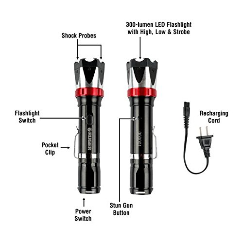 ruger tactical stun gun  rechargeable
